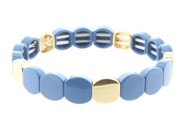 Rounded Metal Shape Stretch Bracelet