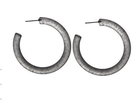 Clear Hoop Earrings