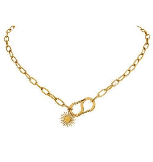 Sun Flower Pendant Necklace