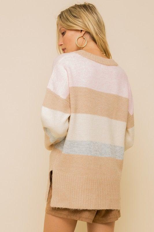 Multi Stripe Loose Fit Sweater *Final Sale*
