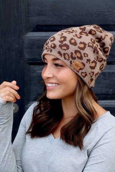 Fleece Lined Leopard Hat