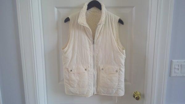Cream Reversible Vest
