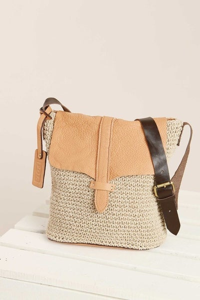 Leather Fold-Over Crotchet Handbag