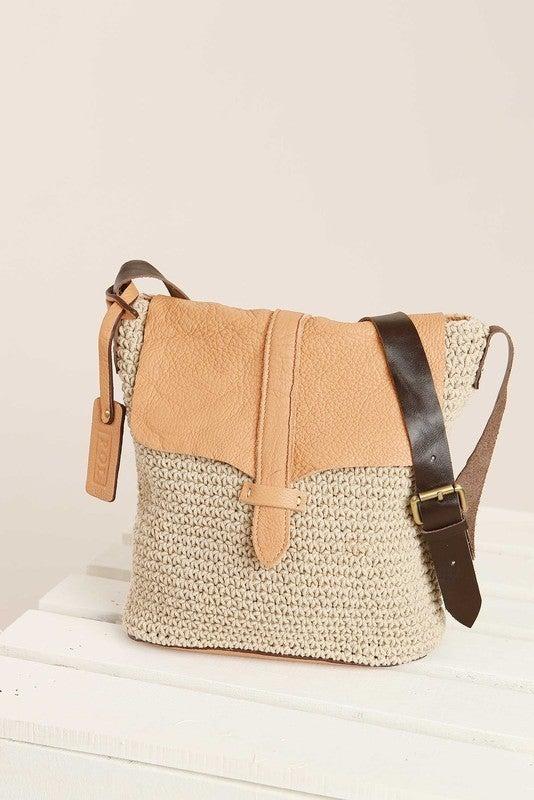 Leather Fold-Over Crotchet Handbag *Final Sale*