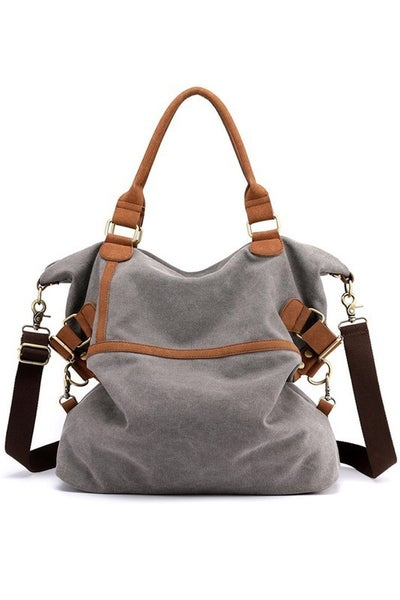 Grey Canvas Bag