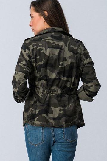 Camo Zip Up Jacket