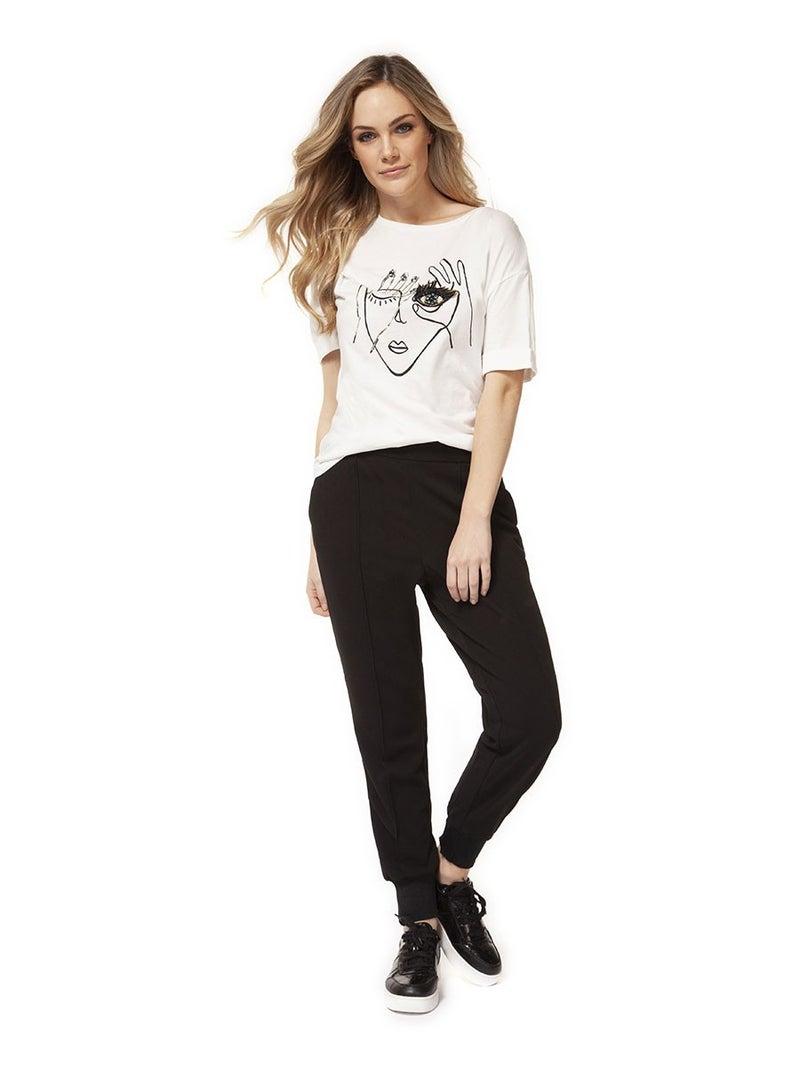 Portrait Print Crew Neck Short Sleeve T-Shirt *Final Sale*