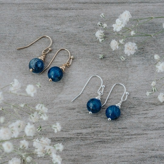 Silver Mingle Earrings with Kyanite