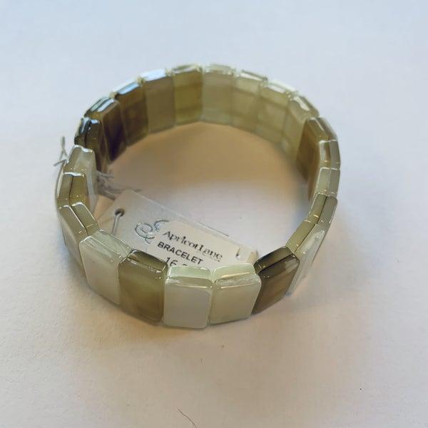 Natural Stretch Tile Bracelet