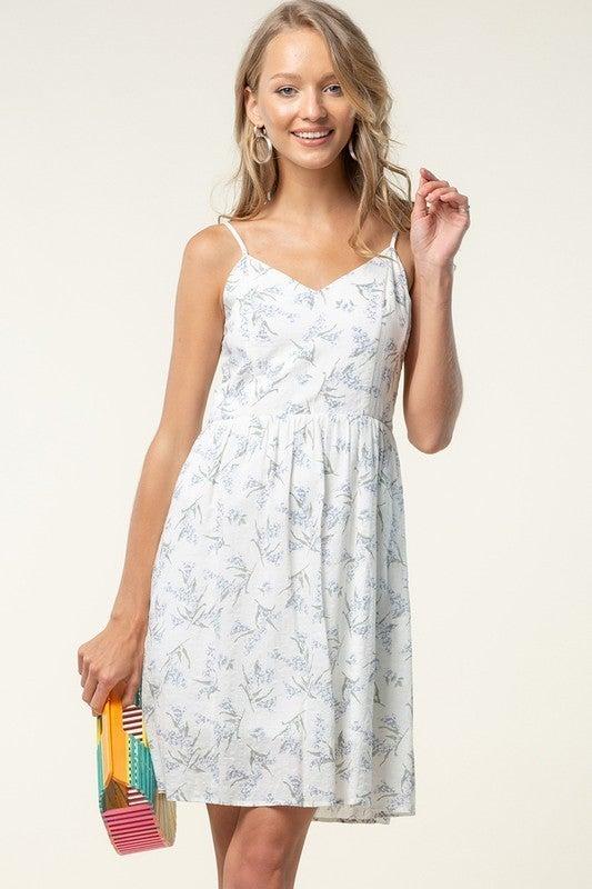 Tie Back Fit & Flare Floral Dress
