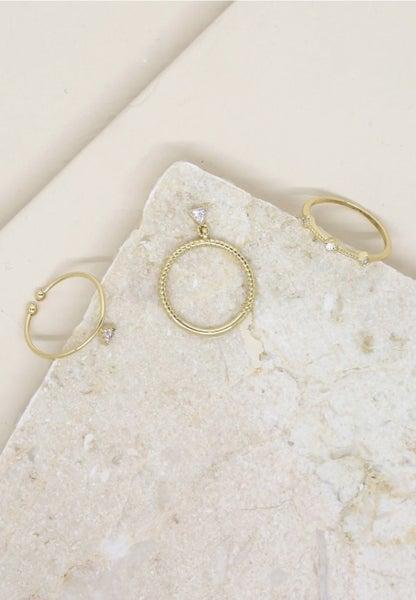 Geometric Dainty 3 Ring Set