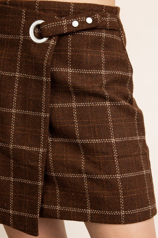 Cecilia Mini Wrap Skirt