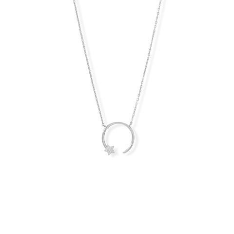 """16"""" + 2"""" Shooting Star Necklace"""