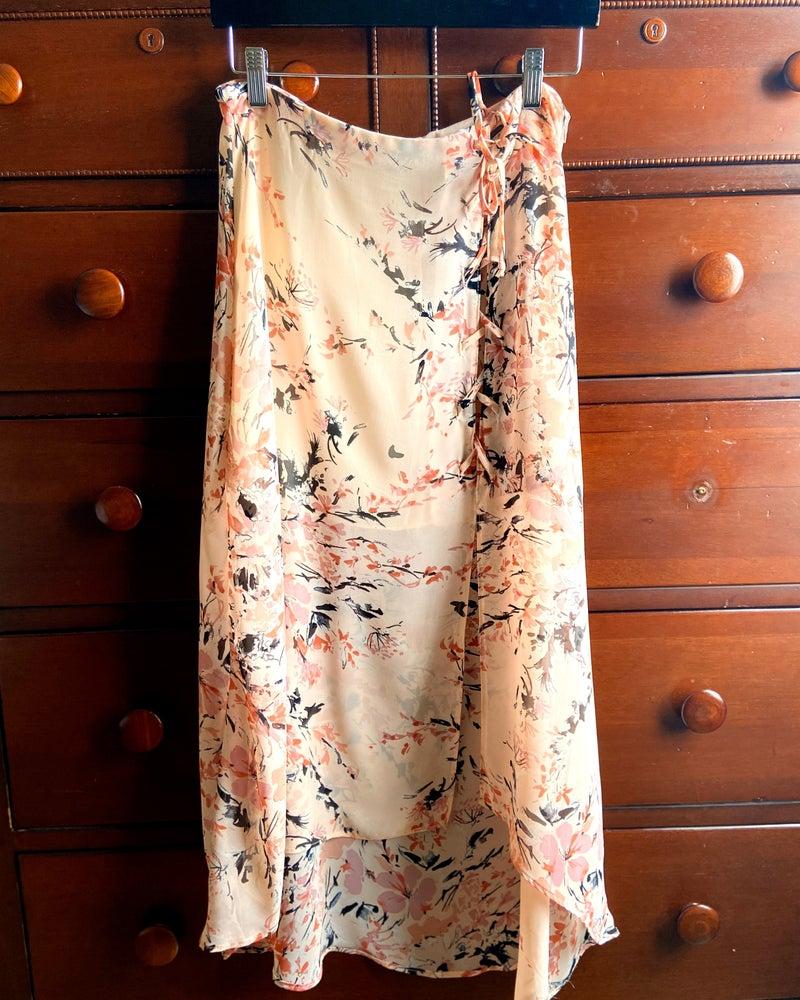 Light Pink Floral Maxi Skirt. *Final Sale*