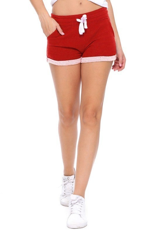 Red Classic Terry Shorts