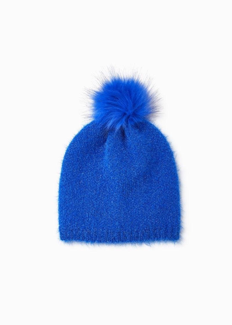 Shiny Feather Pom Pom Hat