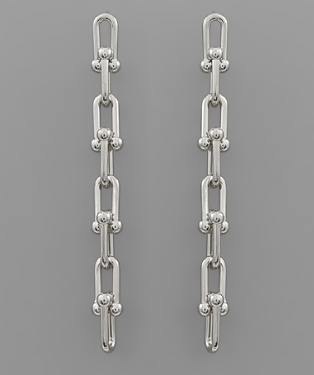 Ball Link Earrings