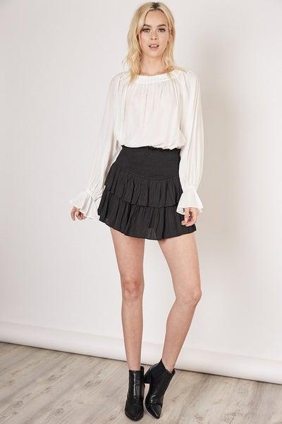 Black Smocking Skirt *Final Sale*