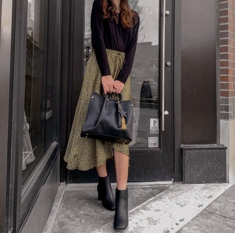 Wrap Style Leopard Skirt *Final Sale*