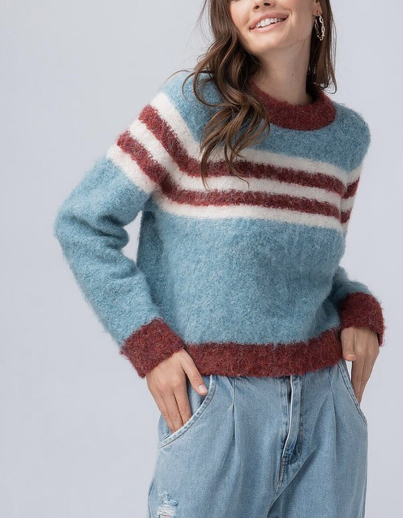 Fuzzy Cropped Sweater *Final Sale*