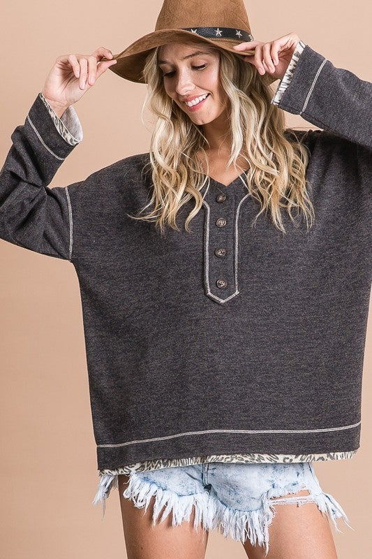 Soft Long Sleeve Button Down Top