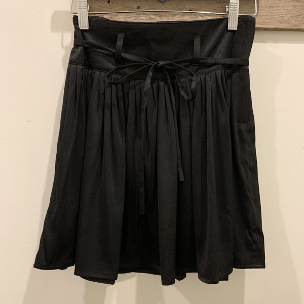 Pleated Black Mini Skirt *Final Sale*