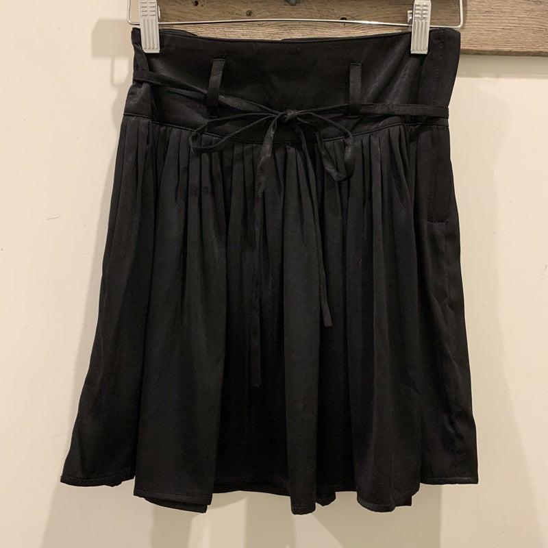Pleated Black Mini Skirt *Final Sale*