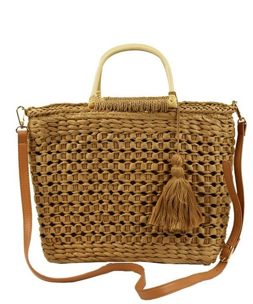 Trendy Straw Crossbody