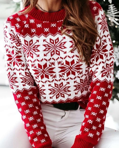 Red Snow Sweater