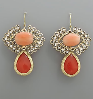 Double Stone Earrings