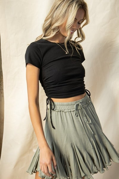 Layla Side String Cropped Top