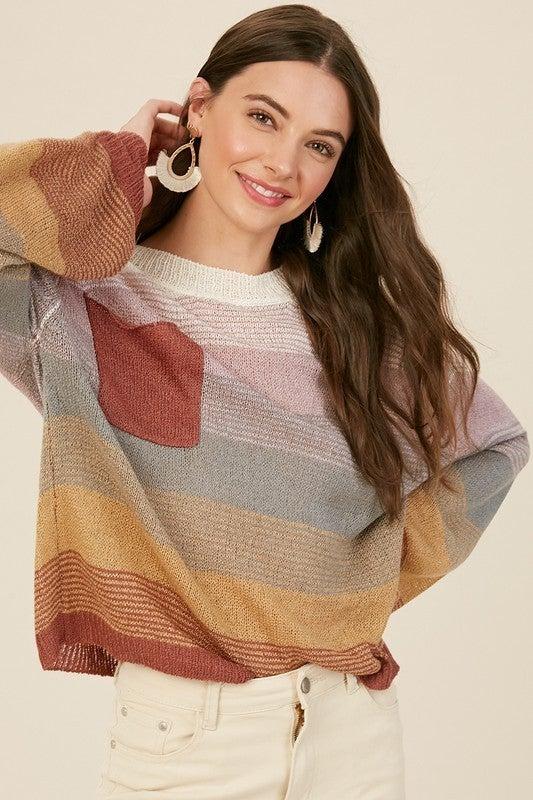 Multicolor Lightweight Sweater
