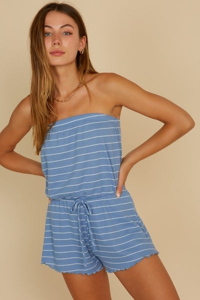 Merrow Stripe Tube Romper