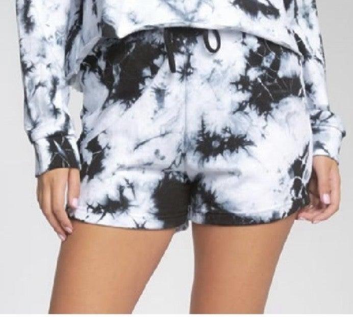 Tie Dye Drawstring Shorts