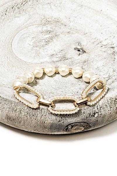 Pearl & Links Bracelet
