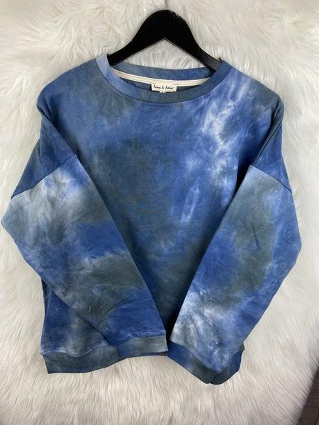 Blue/Teal Tie Dye Sweatshirt