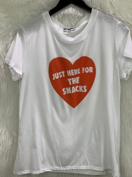"""Just Here for the Snacks"" Tee"