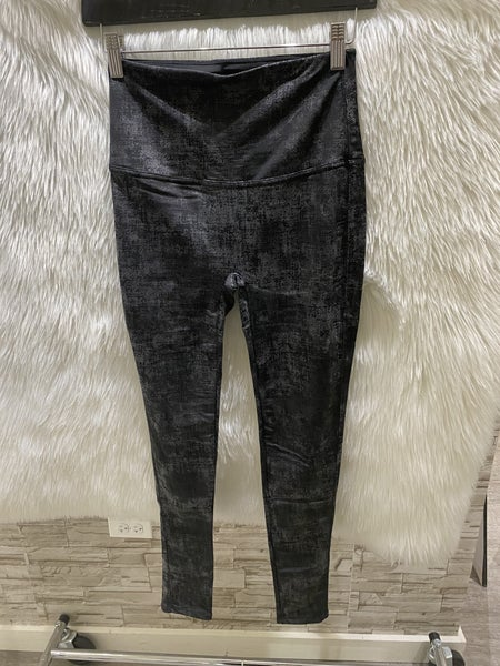 M Rena High Waisted Twill Faux Leather Legging