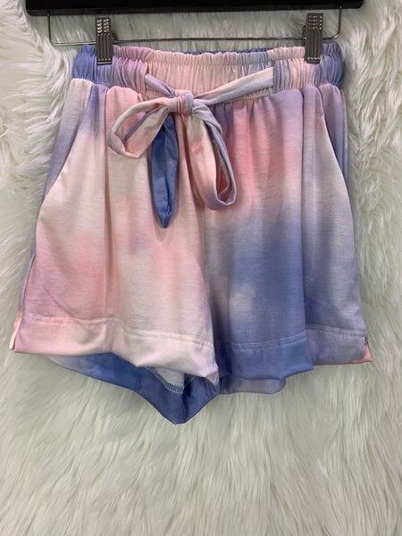 Blush/Blue Sweat Shorts
