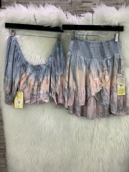Tie Dye Ruffle Skirt