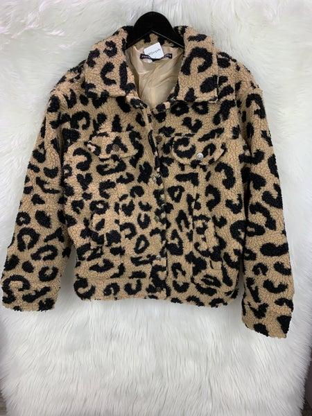 Leopard Sherpa Jacket