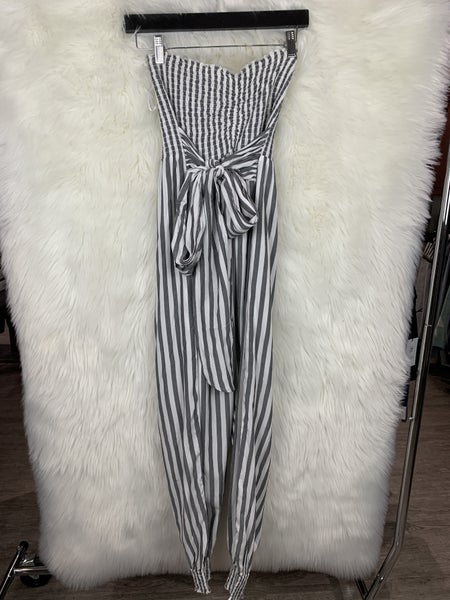Jumpsuit with Smocking Tie Front