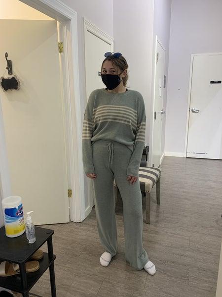 Sage Striped Sweater