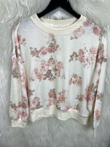 Z Supply Floral Sweatshirt