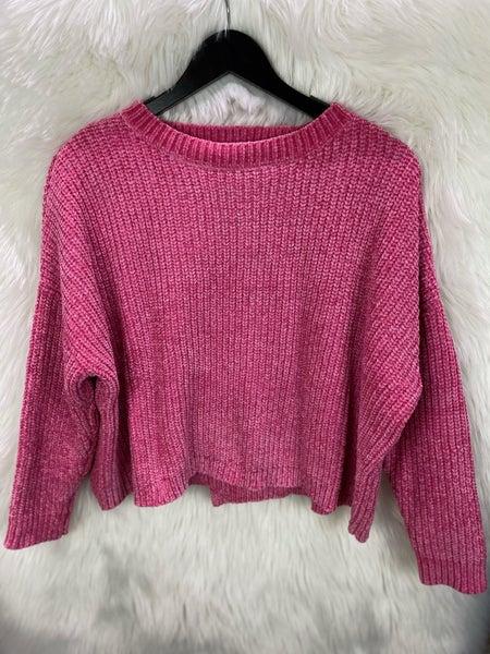 Elan Hot Pink Crossback Sweater