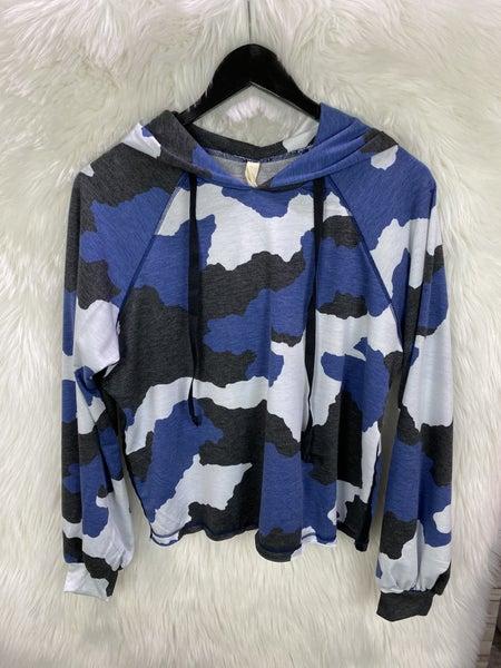 Blue/Black Camo Hoodie