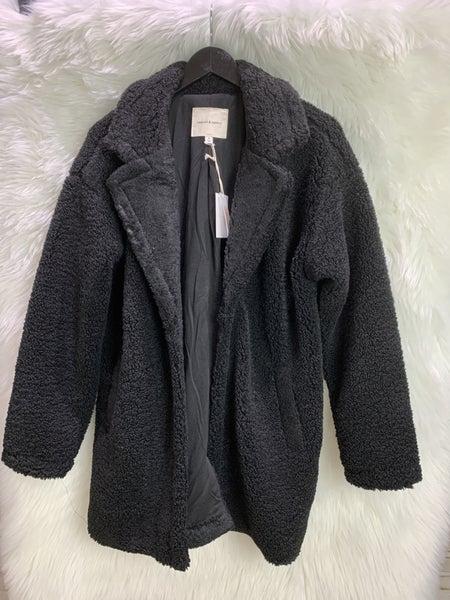 Black Structured Sherpa Jacket