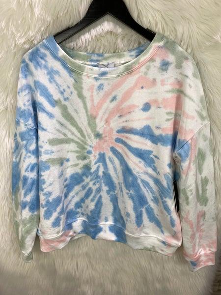 Sage Sunburst Tie Dye Sweatshirt