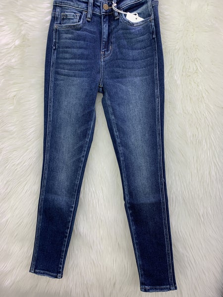 High Rise Ankle Skinny