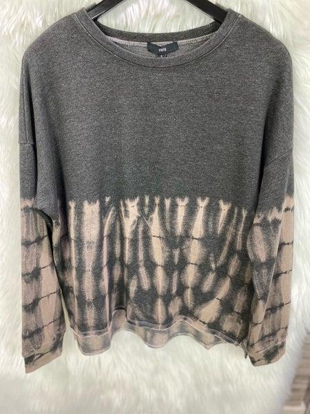 Charcoal Bleached Tie Dye Sweatshirt